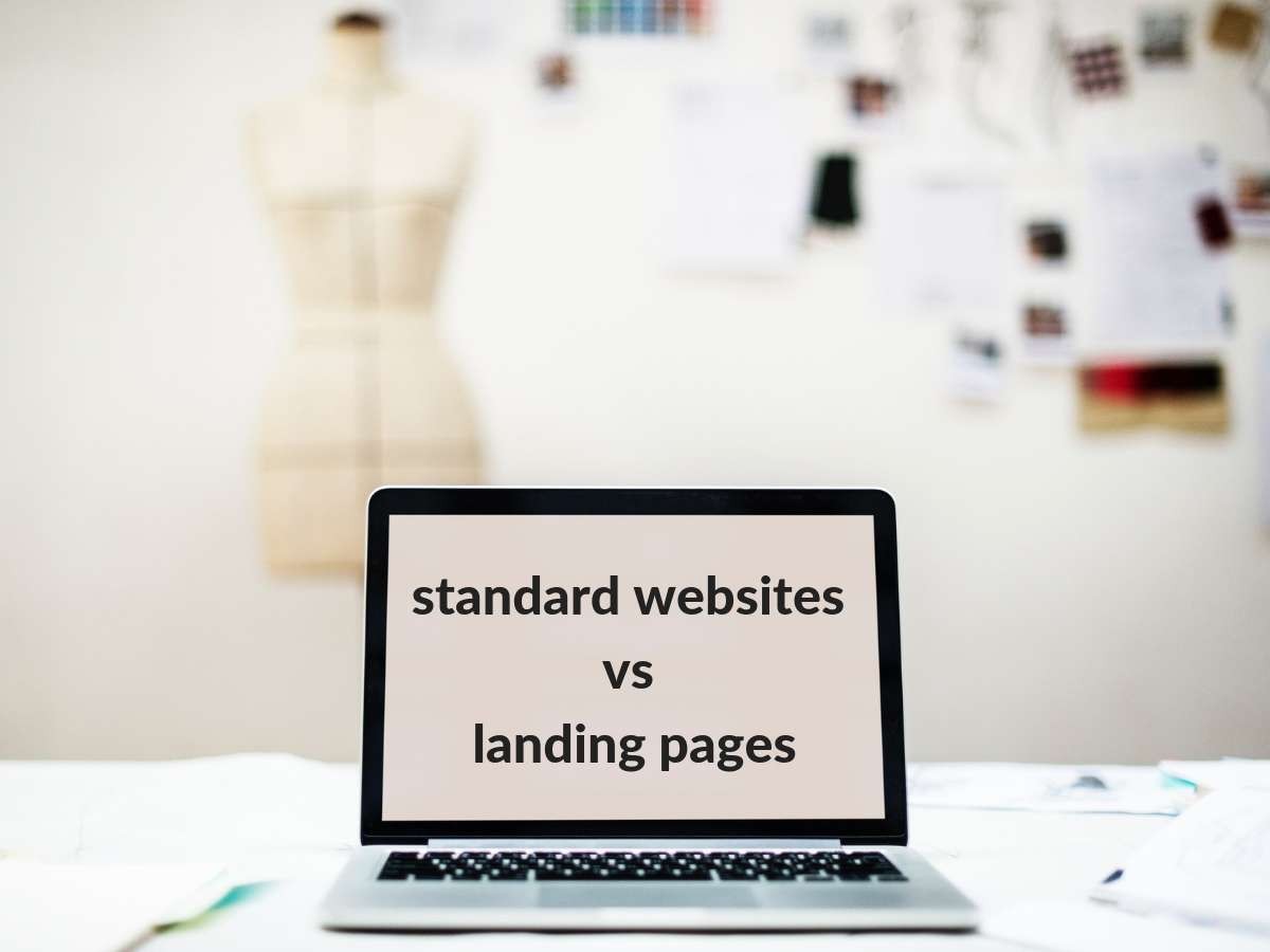 Landing page vs standard website
