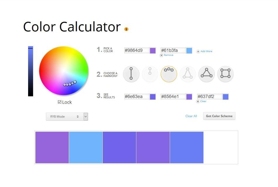 screenshot of color wheel